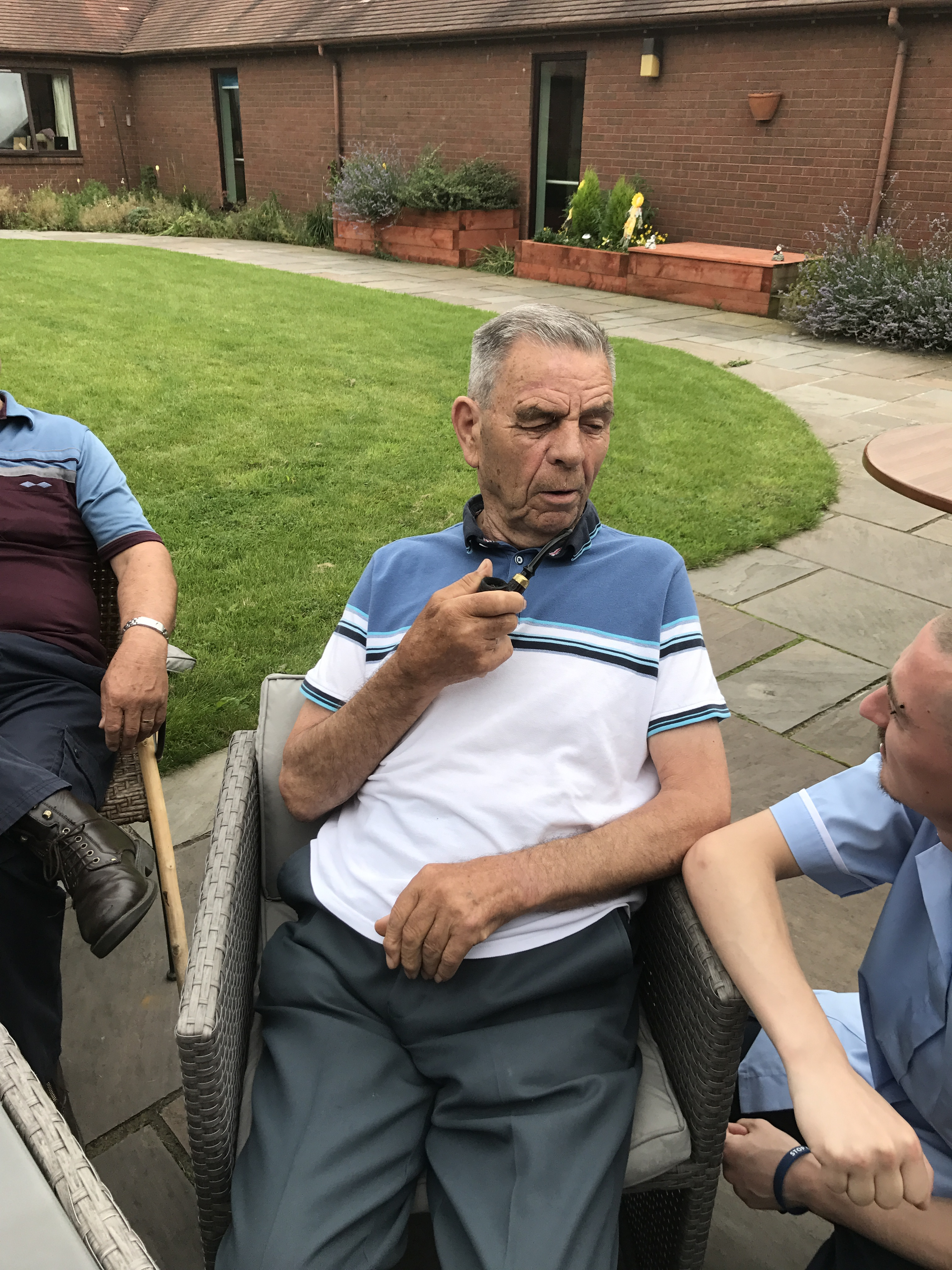 Chilling out in the Grace Court Garden Aug 17: Key Healthcare is dedicated to caring for elderly residents in safe. We have multiple dementia care homes including our care home middlesbrough, our care home St. Helen and care home saltburn. We excel in monitoring and improving care levels.
